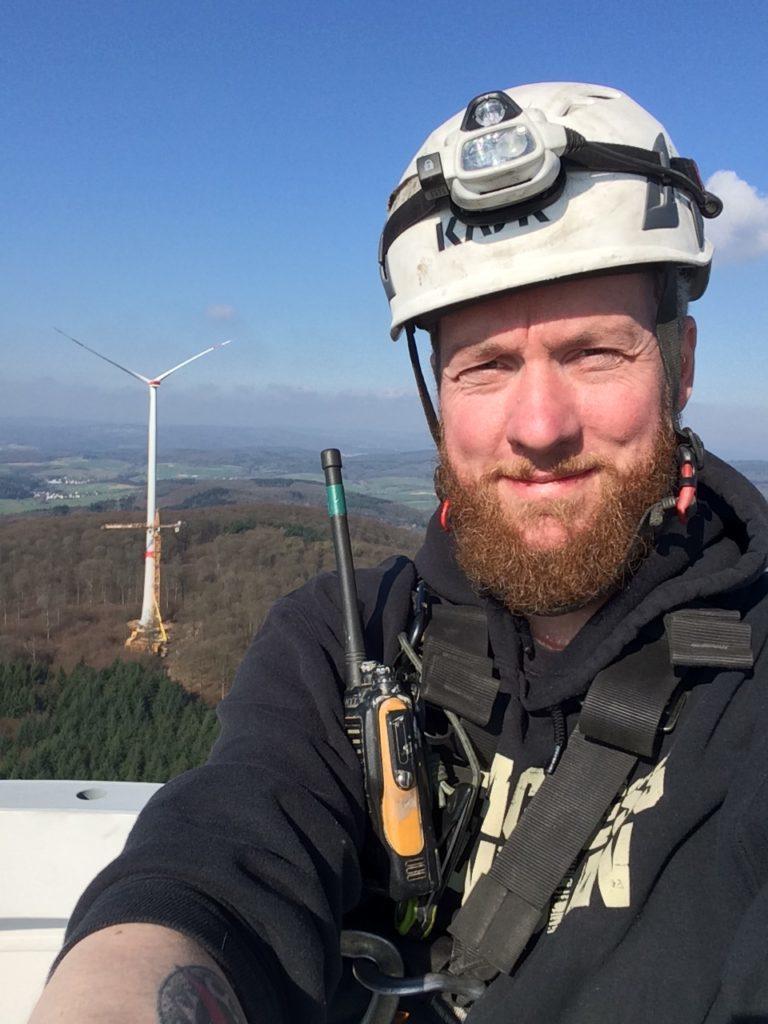 Windkraftanlagen Aufbau