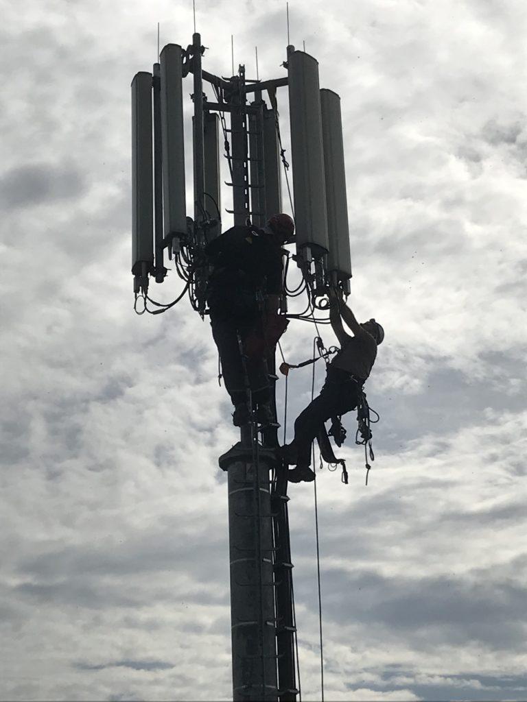 Arbeiten am Funkturm