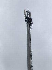 Arbeiten an Funkturm