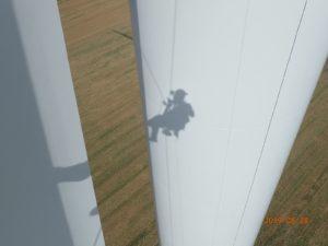 Schattenwurf an Turm