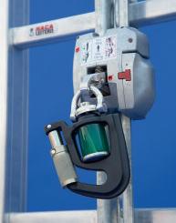 HACA Multisafe Fallschutzläufer Typ 0529.74.50 mit Öffnungsmechanismus